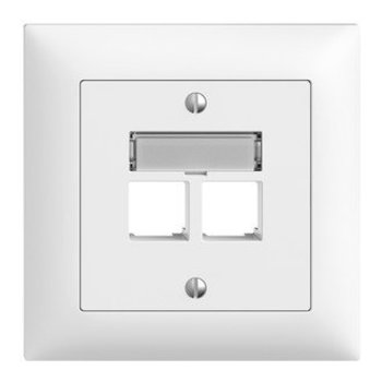 Feller Assemblea UP set S-One Ediziodue.2 × RJ45 dritto, bianco