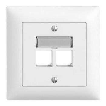 Feller UP Assemblée ensemble S-un Ediziodue.2 × RJ45 droit, blanc