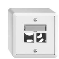 Feller AP Kit de montage S-One EDIZIOdue 2 × RJ45 droite, blanc