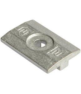 Clickfit Clickfit Tussenklem - Aluminium ( per 5 stuks )