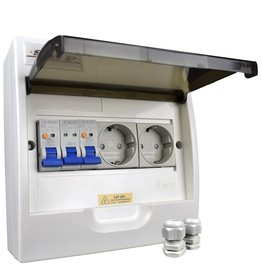 Solfix PV Verdeler 2 x stopcontact (Splitsen bv. wasmachinegroep)