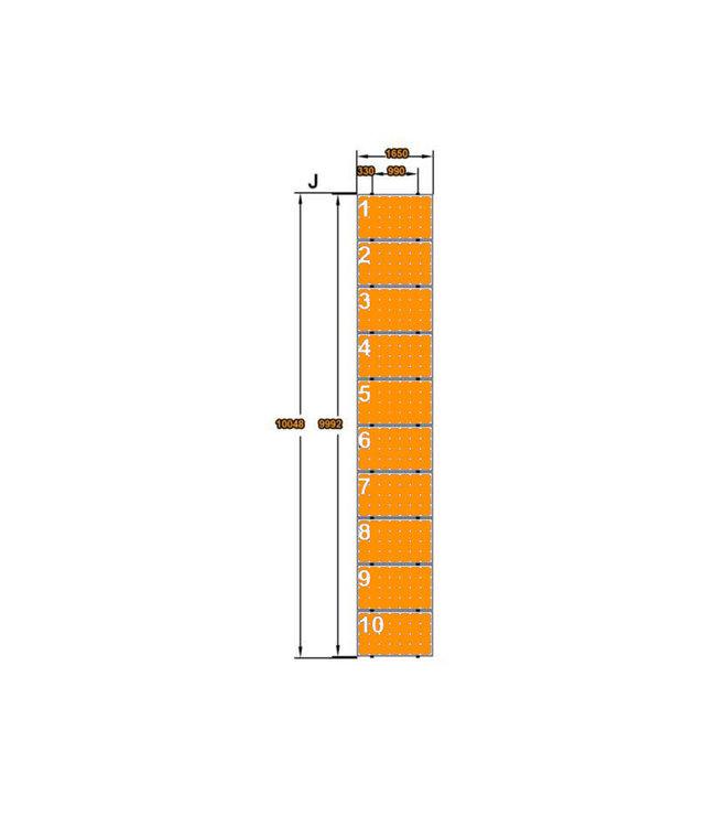 Clickfit 10 Panelen Landscape - Verticale rails - Clickfit Evo Montageset zonnepanelen voor pannendak