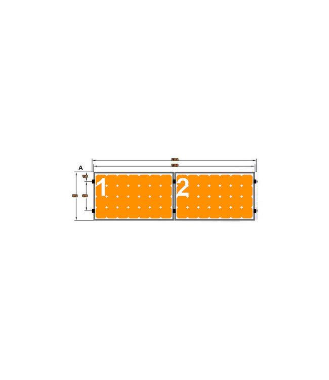 Clickfit 2 Panelen Landscape - Horizontale rails - Clickfit Evo Montageset zonnepanelen voor pannendak