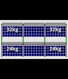 Flatfix Flatfix Fusion Complete Montageset - 2 rijen zonnepanelen (Zuid)