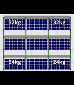 Flatfix Flatfix Fusion Complete Montageset - 3 rijen zonnepanelen (Zuid)