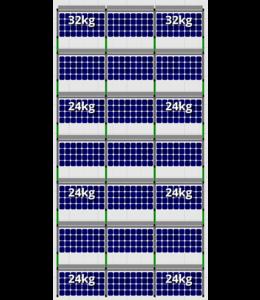 Flatfix Flatfix Fusion Complete Montageset - 7 rijen zonnepanelen (Zuid)