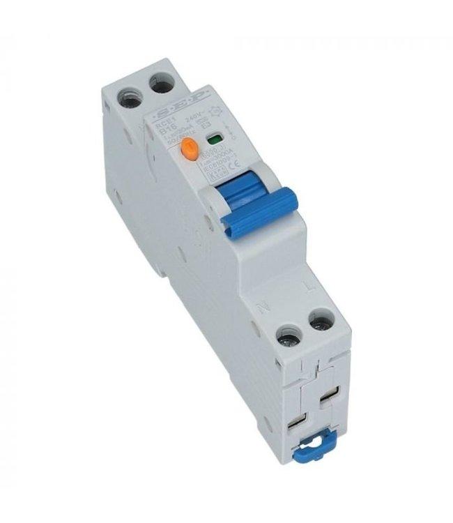 Aardlek Automaat B  30mA (1 fase) 16/20/25 Ampere