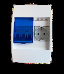 PV Verdeler met 1 x stopcontact (b.v.b. splitsen wasmachinegroep)