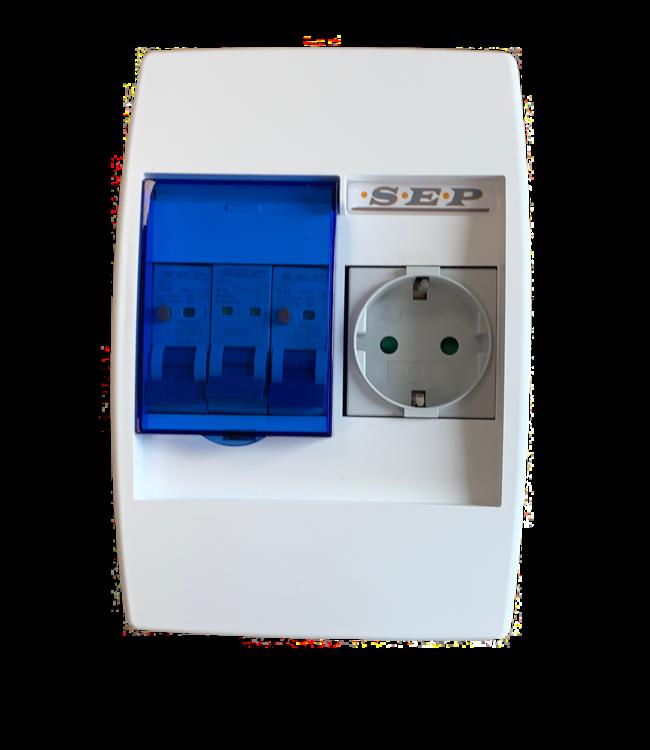 PV Verdeler 1 x stopcontact (Splitsen bv. wasmachinegroep)