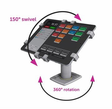 """Gripzo 360 Tablet Stand Swivel & Rotate 11-13"""" tablets"""