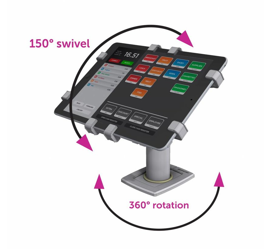 "360 POS Tablet Kiosk Swivel & Rotate 11-13"" tablets"