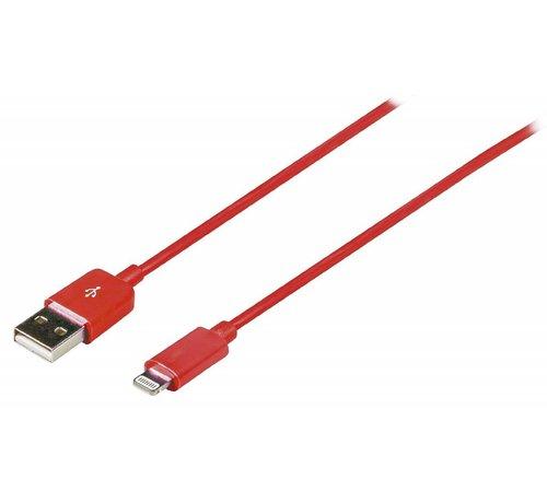 USB sync & charge-kabel lightning 2 meter Rood