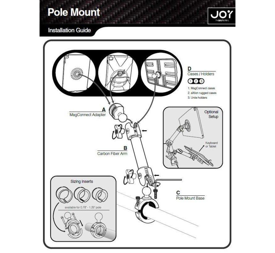 MagConnect Carbon Fiber Tube Mount MMU118