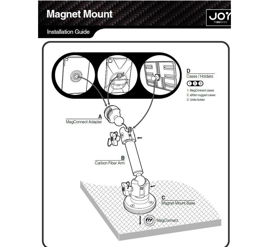 MagConnect Carbon Fiber Magnet Mount