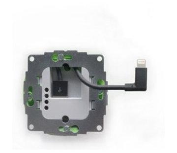 Smarterliving sCharge 12W inbouw inbouw voedingsadapter met lightning connector