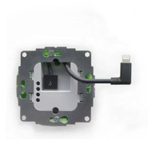 Smarterliving sCharge 12W inbouw voedingsadapter met lightning connector