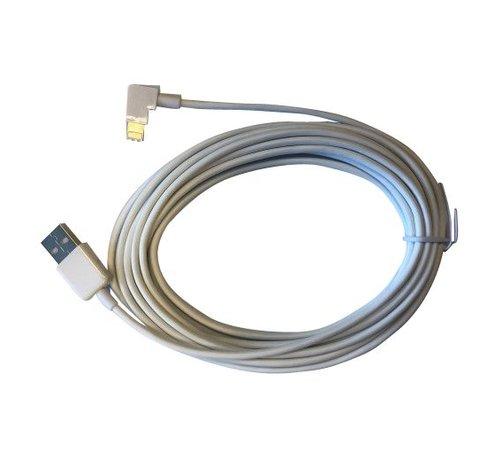 iPad Lightning kabel haakse stekker 3 mtr. - Wit