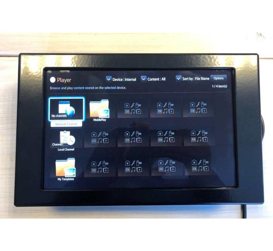 """10"""" stalen monitorbehuizing met extra ruimte"""