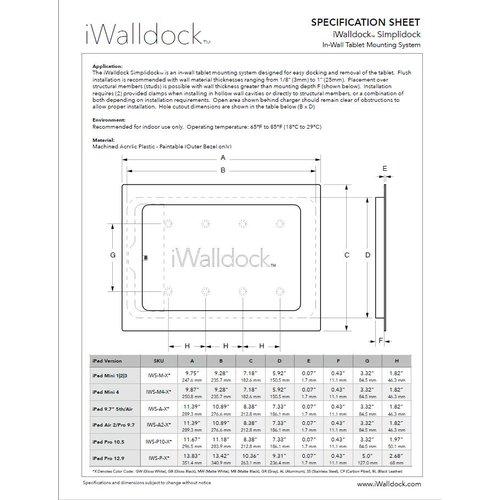 iWalldock Simplidock iPad 9.7 inbouw wandhouder