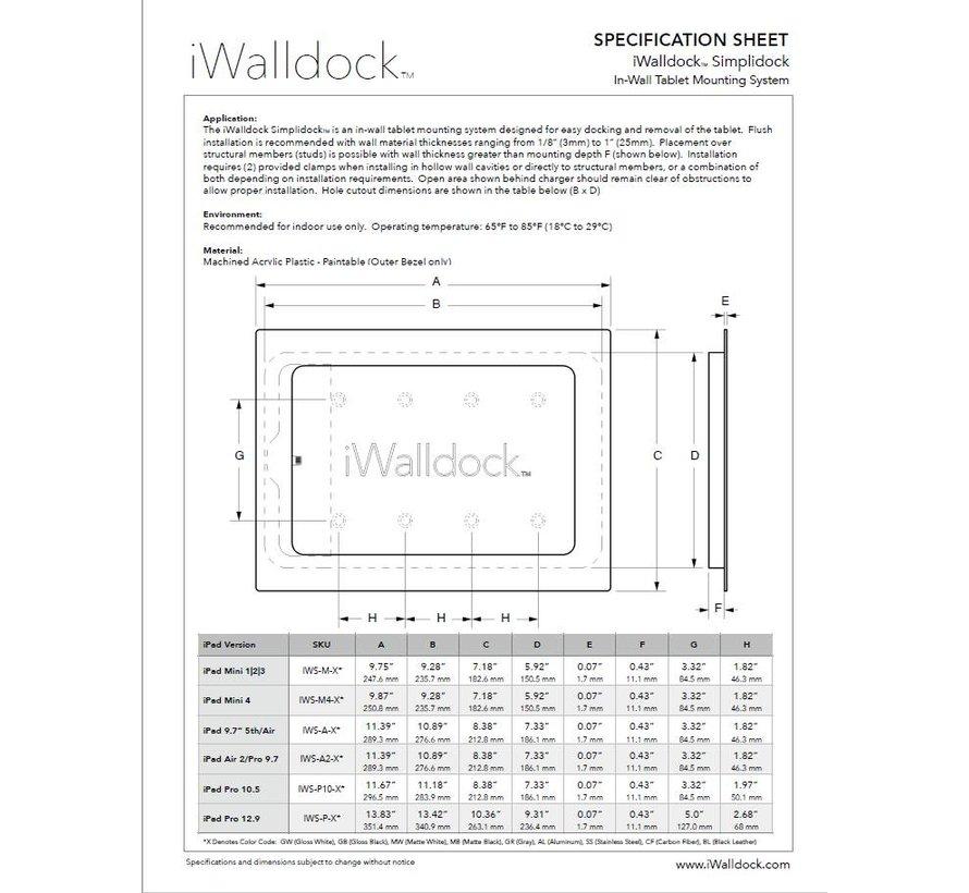 iWalldock iPad 9.7 inbouw wandhouder
