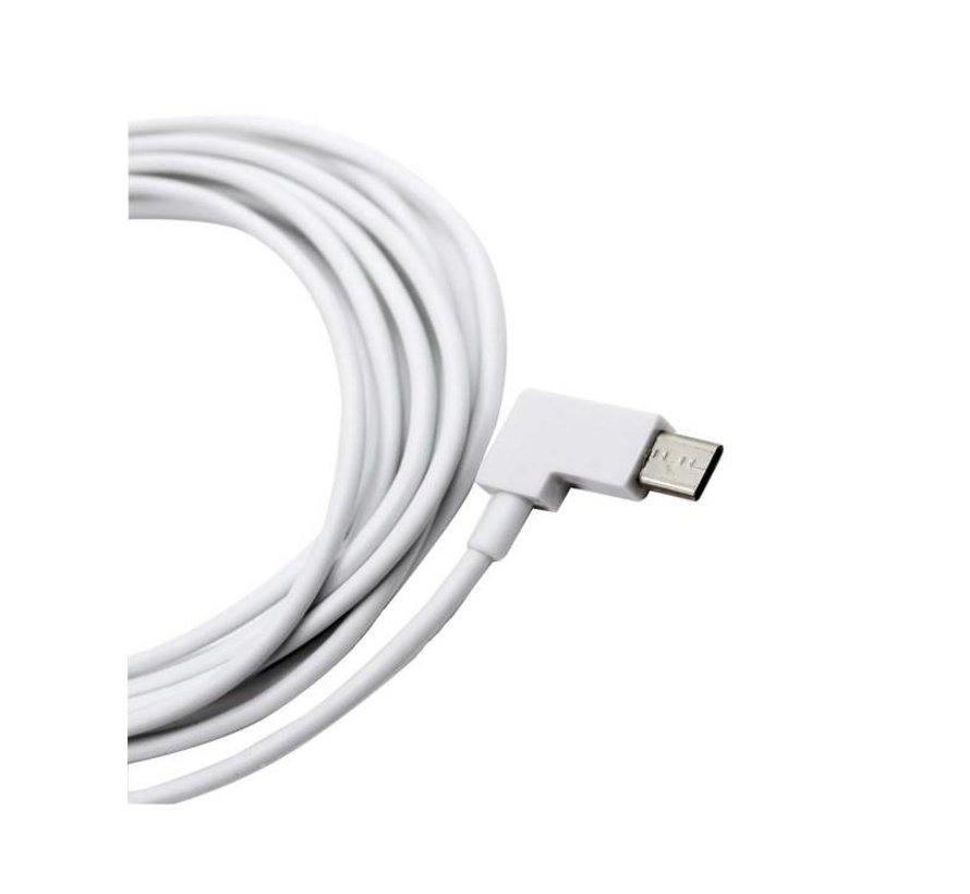 Kabel USB naar USB-C haakse stekker, 3 meter - Wit