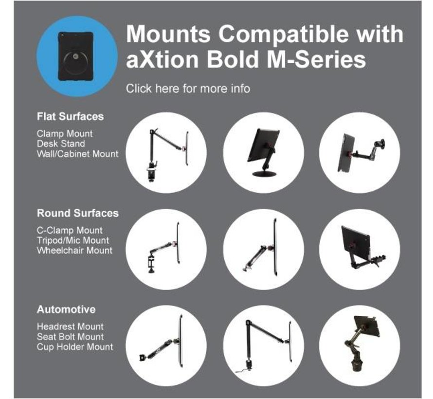 aXtion Bold MPS  iPad Pro 12.9 3rd met anti-diefstalslot