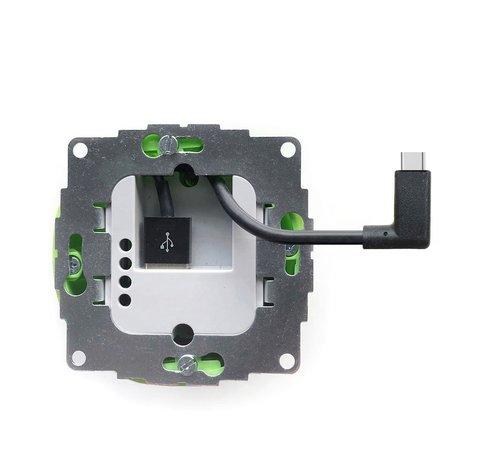 Smarterliving sCharge 12W inbouw voedingsadapter met USB-C