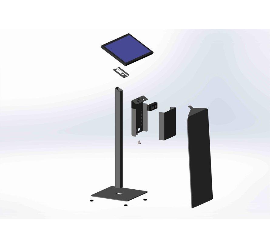 display large VESA met mini-pc behuizing