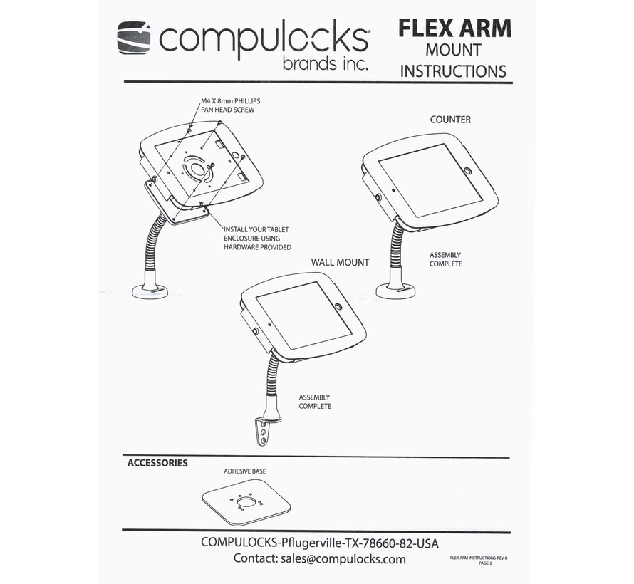 Compulocks Flex Arm VESA Counter Top Kiosk Mount Black