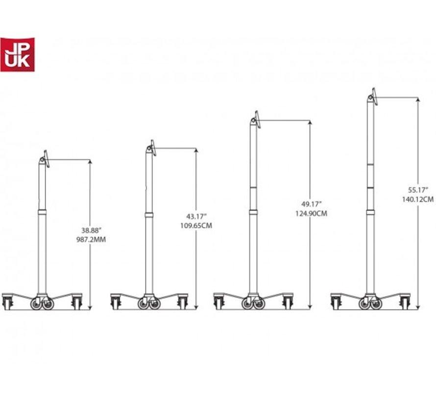 Cling Rise Tablet Stand - hoogte instelbare verrijdbare vloerstandaard