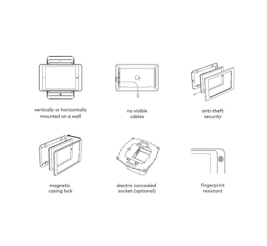 Dame Wall iPad 12.9 gen 3/4 zwart