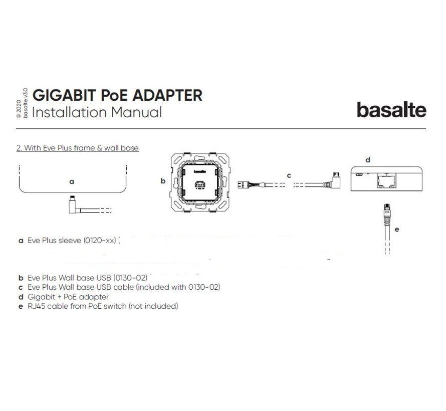 Eve Plus - wall base - USB (POE +LAN) plus Cover