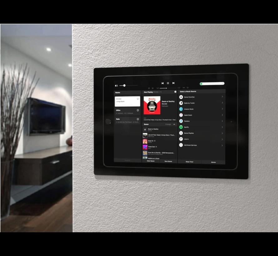 iPad Pro 12.9 Gen 3/4  inbouw wandhouder -Zwart