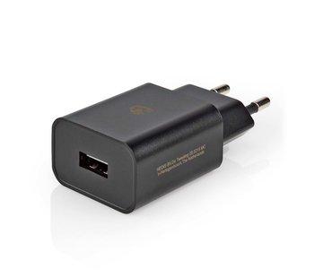 Universele USB tablet lader, 2.4 A, Zwart