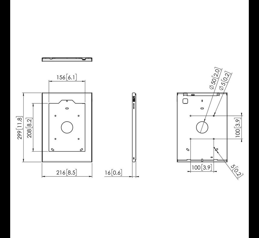 Tablock Tabletbehuizing iPad 10.2 wandhouder  - Home-knop verborgen PTS 1239 (HBH)