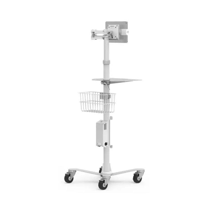 Cling Rise Extended Tablet Stand - hoogte instelbare verrijdbare vloerstandaard