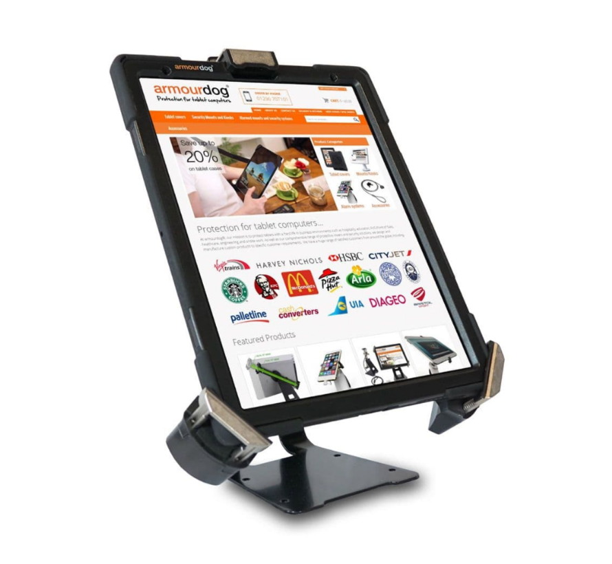 "Armourdog® Universele 7-13"" kantelbare tablet  tafelstandaard  - Expandable naar 28 mm dikte"