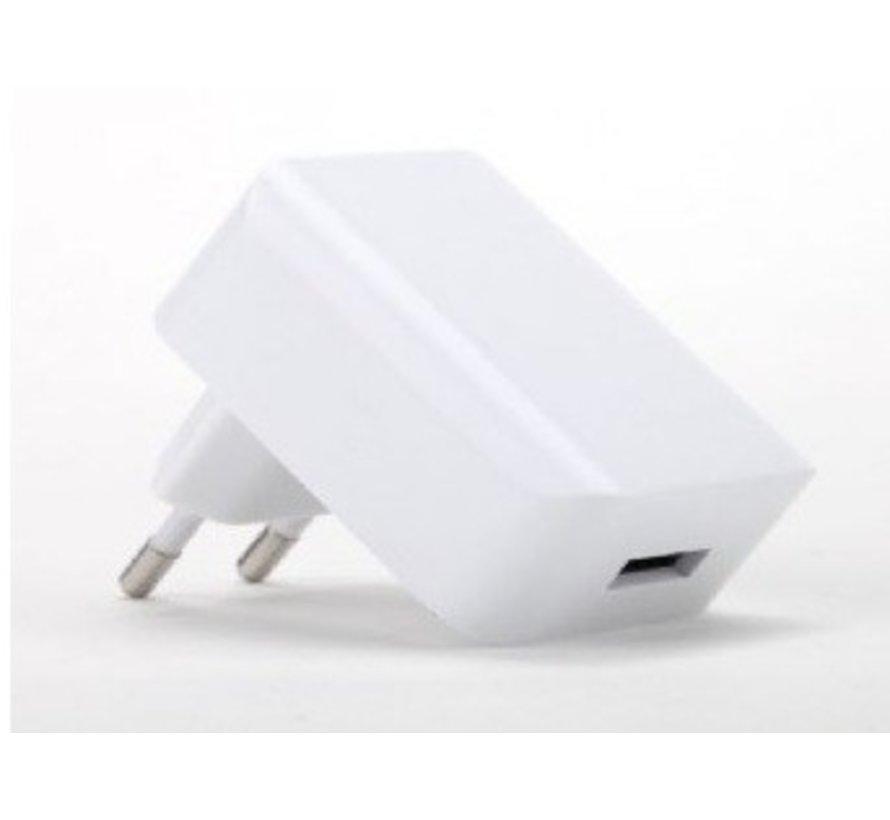 Universele USB tablet lader, 2.1 A, wit
