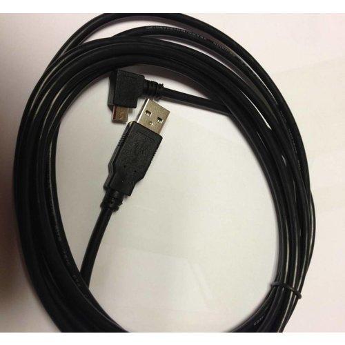 3 Meter Micro USB kabel met haakse stekker
