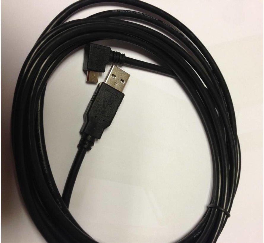 3 Meter Micro USB Easy kabel haakse stekker