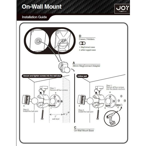 Joy Factory MagConnect™ Compact Wall | Cabinet Mount (Mount Only)