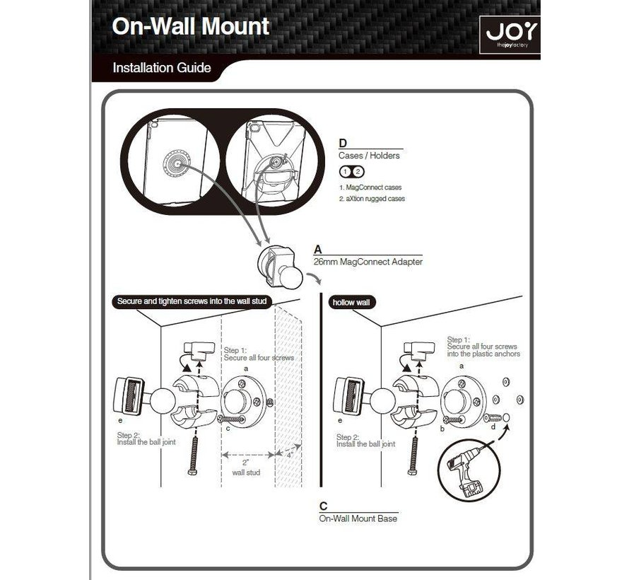 MagConnect™ Compact Wall | Cabinet Mount (Mount Only)