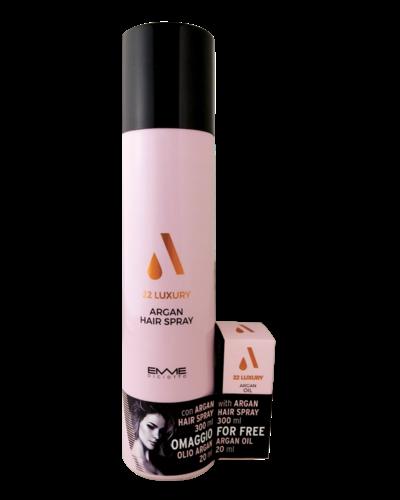 22 Luxury Argan Hairspray 300ml  met GRATIS 20ml Argan oil