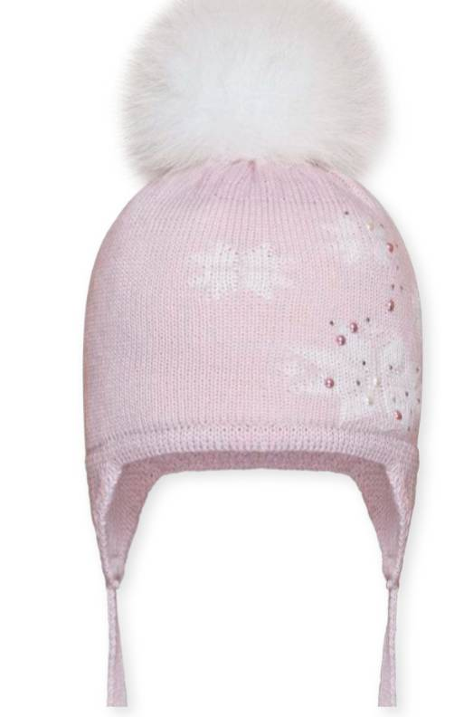Barbaras Muts baby - sneeuwvlok en parels - licht roze