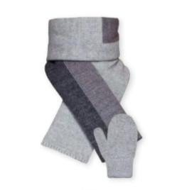 Barbaras Set baby - grijs met strepen