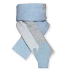 Barbaras Set baby - licht blauw met strepen