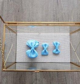 Siena Setje met 3 strikken - Licht blauw