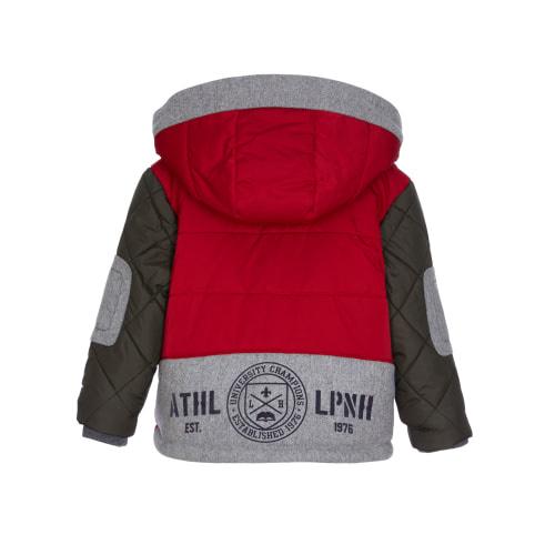 Lapin House Rode gewatteerde jas met afneembare kap - jongens