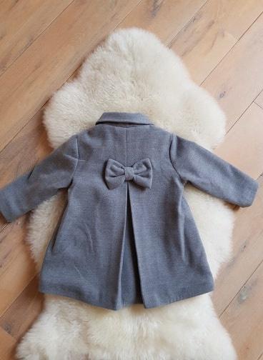 La Jolie Winterjas - Meisje met strik achteraan grijs