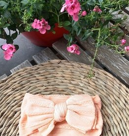 La Jolie Zalm roze haarband met strik